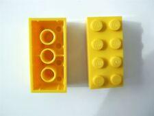 2 X LEGO mattoni gialli dimensioni (2x4) - 300124 (parti e pezzi)
