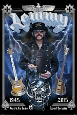 Lemmy (Commemorative) Large Poster. NEW. Motorhead Legend. Maxi Size