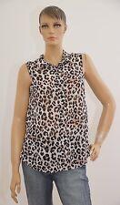 Sommer ärmellos Leopardenprint Damen Bluse braun H&M 36 (1703A-BR-OH#) 04/2020SD