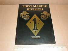 First Marine Division Guadalcanal Vietnam War History 2004 new leather book vIII