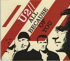 U2 All because of you 2 TRACK CD NEW - NOT SEALED