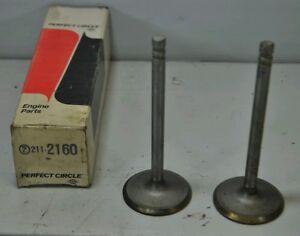 2 Perfect Circle INTAKE VALVES 211-2160 1970-74 PONTIAC 350 400 FIREBIRD PRIX