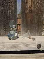 Lot of 2 Solid Glass vintage Bottle Stoppers