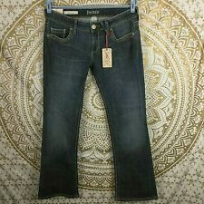 NWT Decree Low Rise Booth Cut Stretch Fitted Jeans Dk Blue Pacific Sz 11