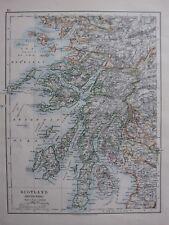 1904 Landkarte ~ Schottland South West Argyll Mull Inverness