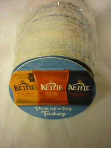 NEW BEER DRIP MAT COASTERS PUB BAR TRADE PROMO PACK OF 100 KETTLE CHIPS CRISPS