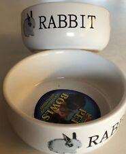 Lazy bones, Porcelain Rabbit bowl white with rabbit design, 11.5cm.