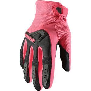 Thor Women's Spectrum Motocross Offroad Gloves Black / Pink