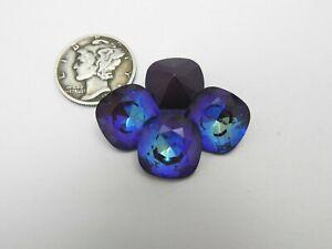 Ultra Purple AB UNF (12mm) Swarovski 4470 Cushion Cut Stones