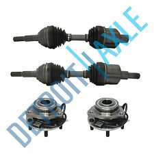 Both (2) L & R CV Axle & Wheel Hub & Bearing for GMC Chevy S10 Blazer 4X4 ZR2