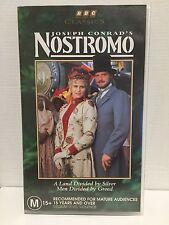 JOSEPH CONRAD'S NOSTROMO ~ COLIN FIRTH, ALBERT FINNEY ~ PAL VHS VIDEO ~ 321 MINS