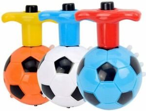 Football Spinning Tops Toy Spinner LED Flash Lights Gyro Music Multicolour Kids