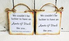 FUNNY QUOTE BEDROOM PLAQUE SIGN GIFT PRESENTS CUTE LOVE CHRISTMAS AUNTIE UNCLE