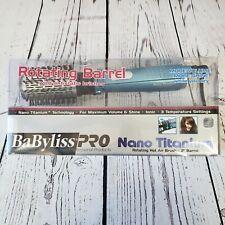 "BABYLISS PRO NANO TITANIUM 2"" ROTATING BARREL HOT AIR BRUSH BLOW AIR BRUSH"