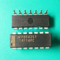 5PCS 74F14PC Encapsulation:DIP,