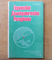 1989 German Democratic Republic DDR Reference map Russian Soviet Atlas Brochure