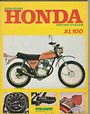 cycleserv HONDA XL100 XL 100 manuale officina stock MOLTO limitato