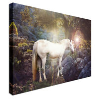Unicorn Canvas Wall Art Picture Print