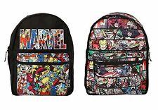 """Marvel Heroes Comic Book Panel Reversible 16"""" School Backpack Book Bag NWT!"""