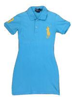 Genuine Ralph Lauren Polo T-Shirt Dress Blue & Yellow Size Girls Youth M