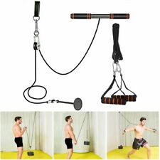 Fitness Arm Blaster Trainer With Pulley Workout Weight Attachments Triceps Sport