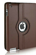Apple ipad 2 3 4 Brown Leather Case Cover Free Stylus Pen Tablet Protection