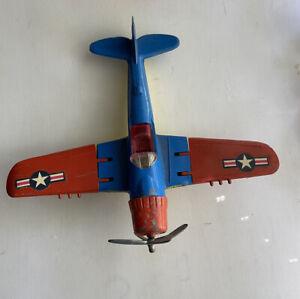 Vintage Metal Hubley Kiddie Toy (Lancaster PA) War II Fighter plane  495