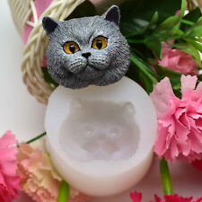 British Shorthair Cat Silicone Fondant Cake Chocolate Mold Soap Craft Wax Mould