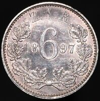 1897 | South Africa 6 Pence | Silver | Coins | KM Coins