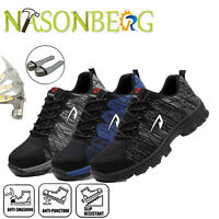 Mens Safety Shoes Light Weight Steel Toe Cap Work Boots Outdoor Hiking Sneakers