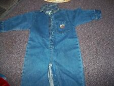 Mcbaby jean jumpsuit so cute has flannel collar great cond. 18 months