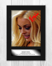 Mandy Rose WWE A4 photograph picture poster. Choice of frame.