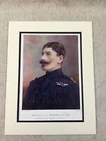 1900 Antico Militare Stampa Maggiore Generale Brabazon Viceroy Di India British