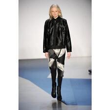 Ladies Amanda Wakeley Pony Skin Leather Jacket Black Small UK8 £1145 Ponyskin 6