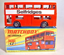 "Matchbox Superfast Nr.17B The Londoner ""Selfridges"" Werbemodell in Box"