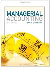 Managerial Accounting by James Jiambalvo (2012, Hardcover) US 5TH EDITION