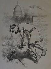 Thomas Nast. Caesar Now Be Still. Harper's Weekly, 1876.