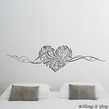 Heart Vine Wall Bed Decor Vinyl Stickers Decal Removable Art Mural Home Deco DIY