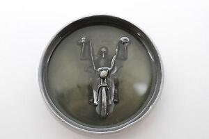 Men Belt Buckle Silver Metal Heavy Grey Skeleton Skull Motorcycle Biker BonesBik
