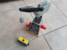 Thomas & Friends Wooden Cranky Crane with cargo truck & magnetic cargo Rare item