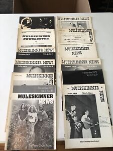 Lot of 12 MULESKINNER NEWS Bluegrass magazines 1972