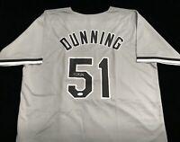 Dane Dunning Signed Autograph Gray Rookie Baseball Jersey JSA White Sox Pitcher