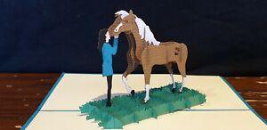 Cutie Little Pony 3D Pop Up Card. (Birthday, Get Well, Congrats...) Blank Card.