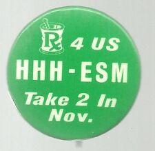 HUMPHREY, MUSKIE PRESCRIPTION 4 US 1968 POLITICAL CAMPAIGN PIN