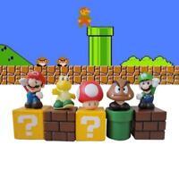 5Pcs 5CM Super Mario Goomba Action Figures Toys Koopa Mushroom PVC Luigi Troopa