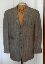 Vintage Harris Tweed  Gray & Brown Jacket C44 Hand Woven