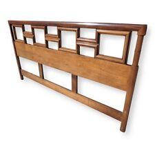 Vintage Century Furniture Geometric Faux Bamboo King Size Headboard Chinoiserie