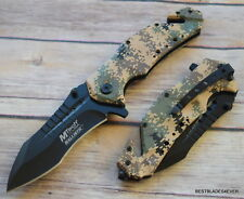 MTECH DIGITAL CAMO TACTICAL RESCUE SPRING ASSISTED KNIFE WITH POCKET CLIP