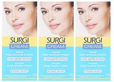 Surgi Cream Facial Hair Remover Cream extra gentle formula 1oz. (3pks)