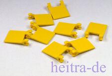 LEGO - 8 x Fahne / Flagge 2x2 mit 2 Clips gelb / Yellow Flag / 2335 NEUWARE
